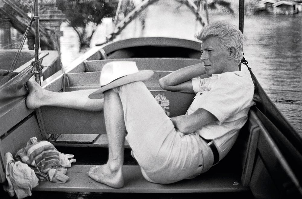 Bangkok,Tailândia Bowie durante um passeio de barco (Foto:  Denis O'Regan)