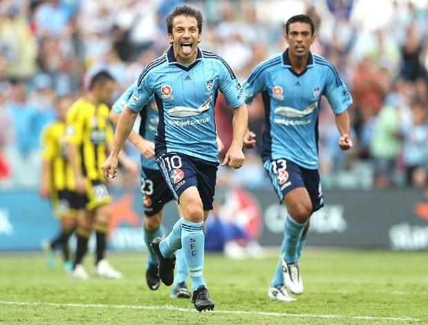 Del Piero comemorando gol pelo Sydney FC (Foto: Divulgação)