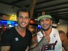 Ex-BBBs Eliéser e Kléber Bambam se reencontram no Rio