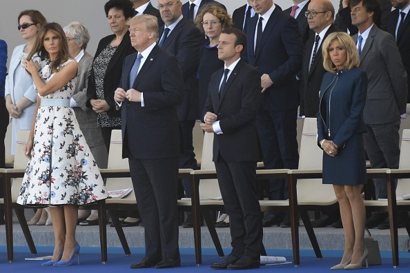 Melania Trump e Brigitte Macron (Foto: Getty Images)