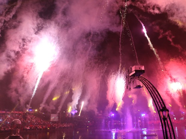 Espetáculo Nativitaten ao vivo Natal Luz de Gramado (Foto: Estêvão Pires/G1)
