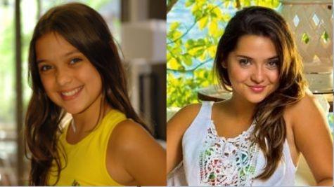 Polliana Aleixo em 'Beleza pura' e atualmente (Foto: TV Globo e arquivo pessoal)