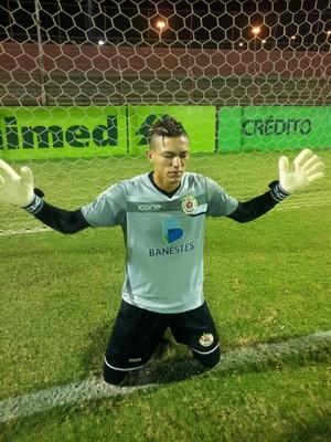 Harrison, goleiro do Real Noroeste (Foto: Sidney Magno Novo/GloboEsporte.com)
