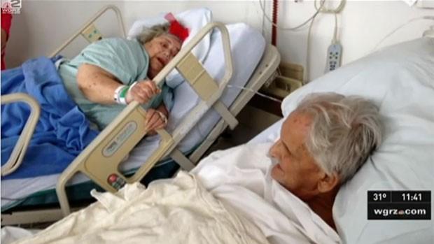 Ed Hale, de 83 anos, havia prometido à mulher, Floreen Hale, de 82 anos , que nunca a deixaria. Eles morream com apenas 36 horas de diferença (Foto: Reprodução/WGRZ)