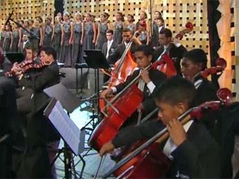 Orquestra Criança Cidadã do Recife (Foto: Reprodução)