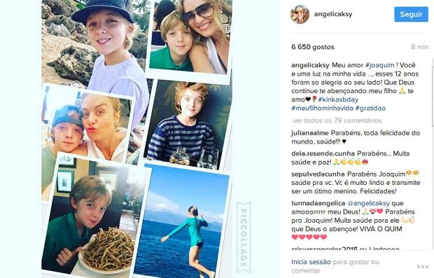 Angélica faz homenagem ao filho (Foto: Reprodução)