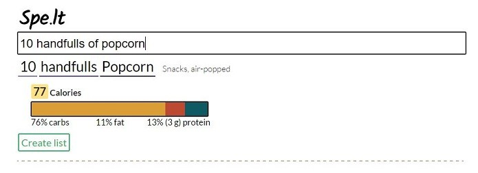 Spe.It calcula as calorias dos alimentos (Foto: Felipe Alencar/TechTudo)