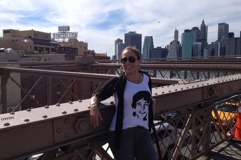Cissa Guimarães atravessou a Brooklyn Bridge a pé (Foto: Arquivo pessoal)