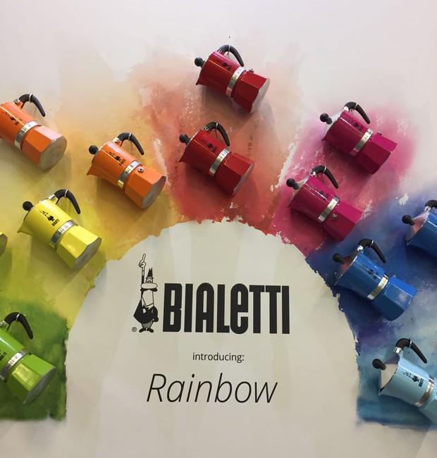 A Imeltron lança a coleção Rainbow que oferece sete cores diferentes da cafeteira Bialetti (Foto: Casa e Jardim)