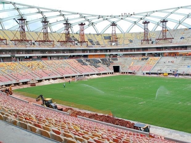 Arena da Amazônia está com 91% das obras concluídas (Foto: Silvio Lima)
