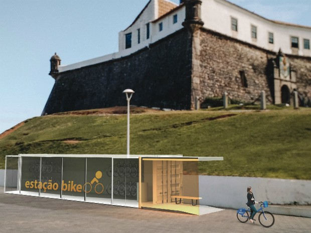 Bicicletário será inaugurado neste sábado, no Farol da Barra (Foto: Agecom/Divulgação)