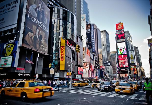 Times Square, em Nova York (Foto: Reprodução/Facebook)