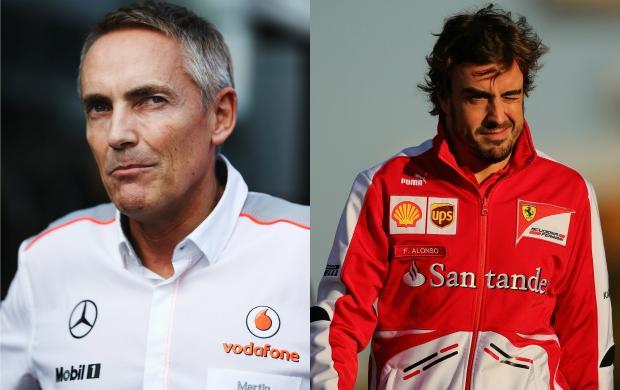 Martin Whitmarsh admite que Fernando Alonso faz falta para a McLaren (Foto: Getty Images)