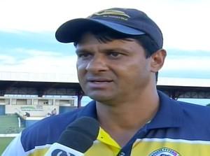 Wladimir Araújo, técnico do Interporto  (Foto: Reprodução/TV Anhanguera)