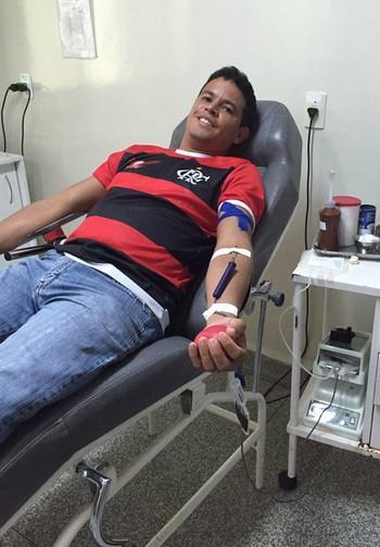 Torcida Fla-Cruzeiro Acre realiza campanha de doação de Sangue (Foto: Fernando Magalhães/arquivo pessoal)