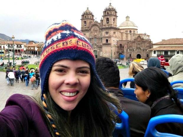 Arquiteta decidiu aproveitar o Ano Novo em Cusco (Foto: Diana Bastos / Arquivo Pessoal)