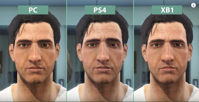 Vídeo divulgado na Internet compara os gráficos de Fallout 4 no PC, PS4 e Xbox One (Foto: Reprodução/YouTube)