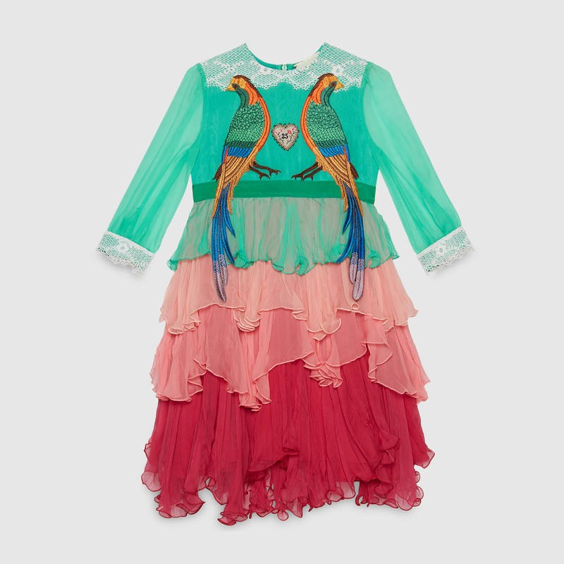 Children's silk dress with birds (US$995) (Foto: Reprodução)