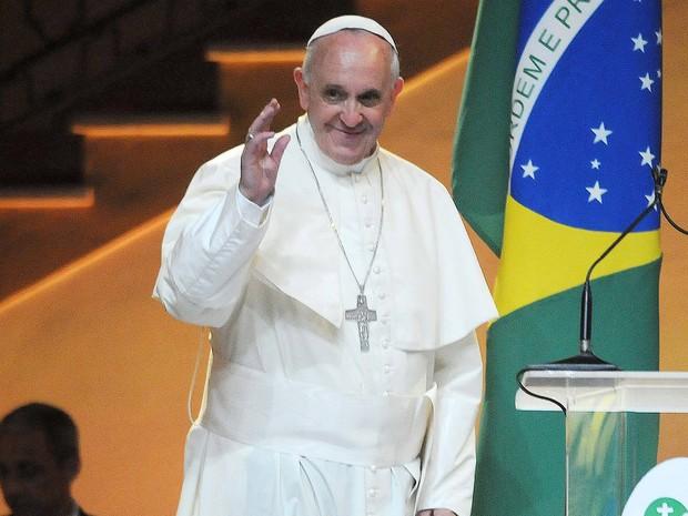 Papa Francisco no Palácio da Guanabara (Foto: Alexandre Durão/G1)