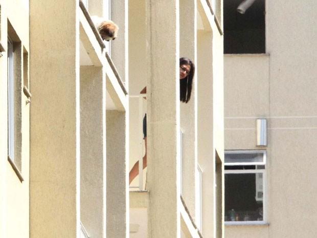 Agentes do Corpo de Bombeiros foram acionados para realizar resgate de um cão (Foto: Jadson Marques/Futura Press)
