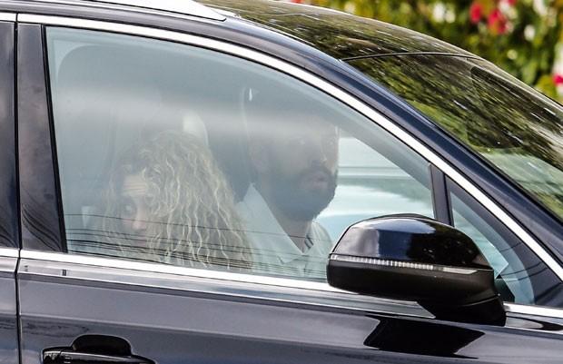 Shakira e Piqué: juntos em Barcelona (Foto: Backgrid)