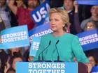 Hillary intensifica comícios com a ajuda de grandes nomes do partido