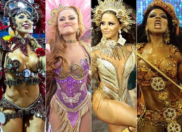 Quem foi a melhor rainha de bateria do Carnaval de SP? (Foto: Agnews/BrasilNews)