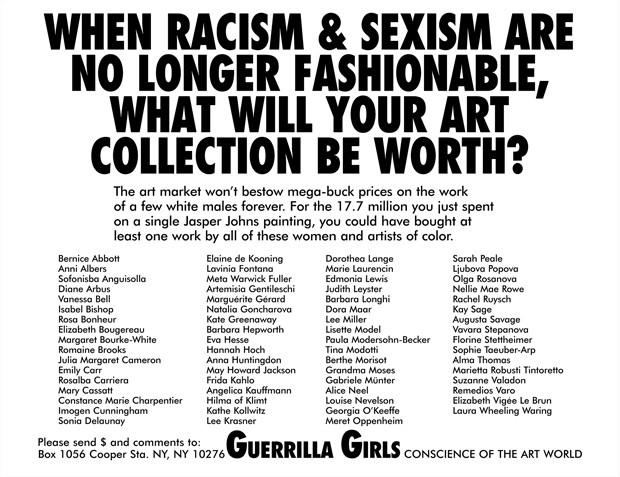 Courtesy guerrillagirls.com (Foto: Divulgação)