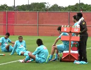 FRAME jogadores da Seleção no treino (Foto: Reprodução / CBF)