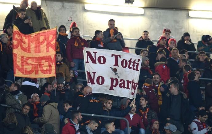 cartaz, Totti Bayern de Munique x Roma (Foto: Getty Images)