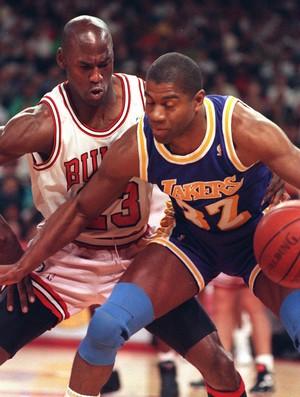 michael jordan especial Magic Johnson 1991 (Foto: Getty Images)