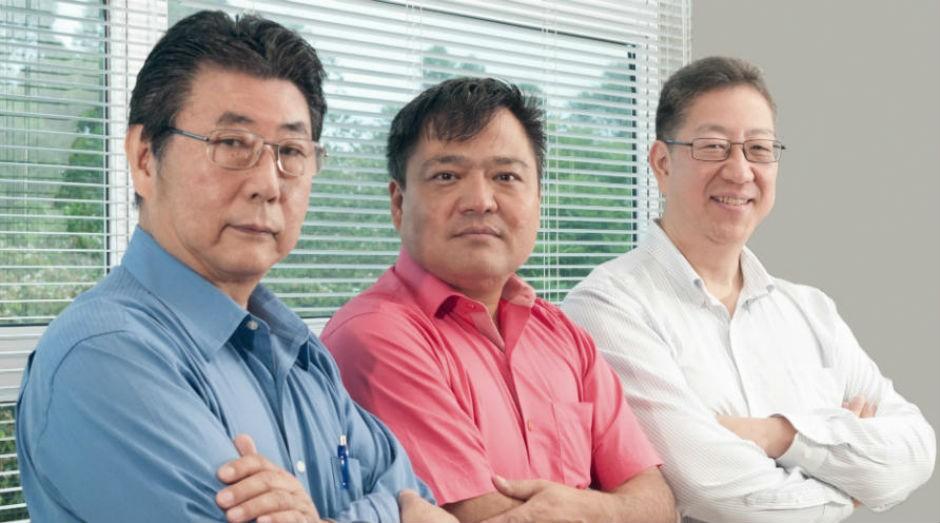 Tatsuo Suzuki, Wataru Ueda e Toru Kinjo, donos da Magnamed. (Foto: Divulgação/Endeavor)
