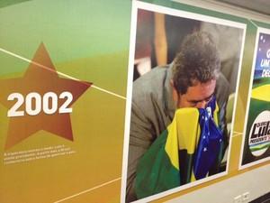 Imagem retrata vitória de Lula nas eleições de 2002 (Foto: Fabiano Costa / G1)