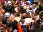 Imagens mostram confusão no desfile do Cordão da Bola Preta, no RJ