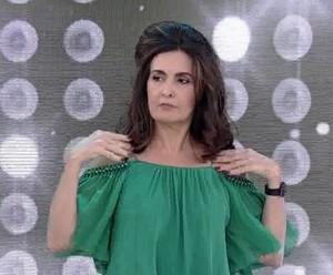 Fátima ensaiando a coreografia (Foto: TV Globo)