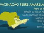 Vacina contra a febre amarela é recomendada em 6 cidades da região