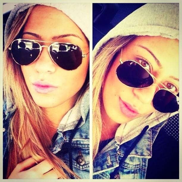 Rafaella Beckran, irmã de Neymar, em aeroporto na Espanha (Foto: Instagram/ Reprodução)