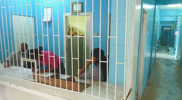 Como uma prisão: assim é a Unidade Psiquiátrica do hospital da capital, Georgetown (Foto: BBC Mundo)