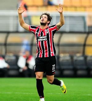 Alexandre Pato São Paulo gol palmeiras brasileirão (Foto: Marcos Ribolli)