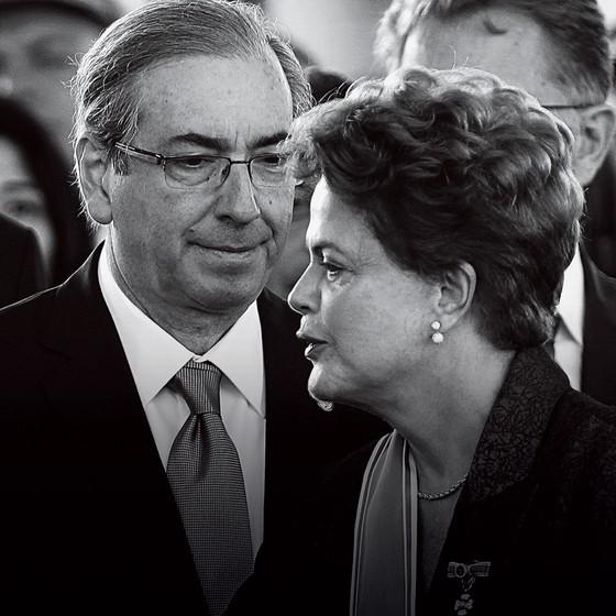 Presidente Dilma Rousseff  e Eduardo Cunha (Foto: Jorge William/Agência O Globo)