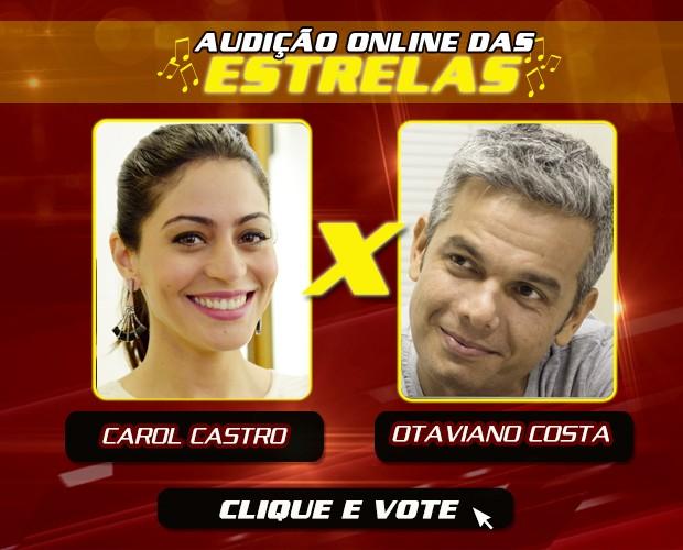 Carol Castro e Otaviano Costa (Foto: The Voice Brasil / Gshow)