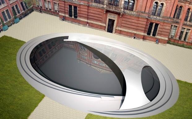 Prdio futurista de Zahar Hadid - instalao  (Foto: Divulgao / Zaha Hadid)