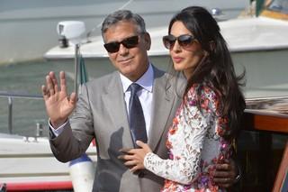 George Clooney e Amal Alamuddin em Veneza (Foto: AFP)