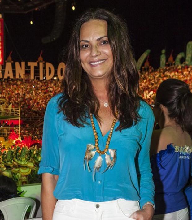 Luiza Brunet sem maquiagem (Foto: Fred Chalub/Ed Globo)