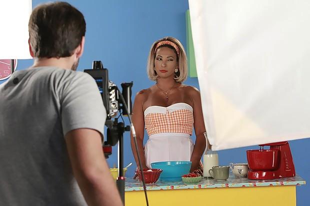 Valesca Popozuda nos bastidores do clipe Pimenta (Foto: Marcos Ferreira/ Brazil News)