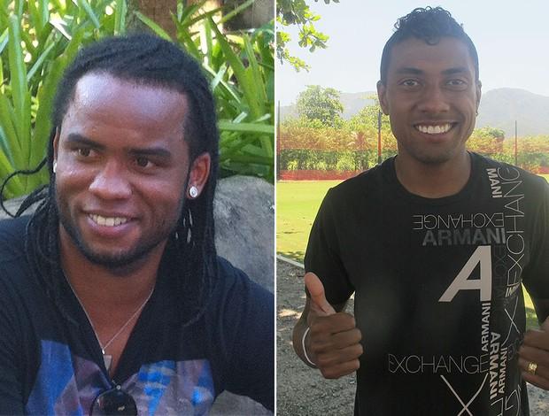 MONTAGEM - Kleberson e Carlos Alberto (Foto: Editoria de arte / Globoesporte.com)