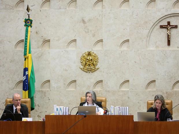 Cármen Lúcia preside sessão do STF, em agosto, substituindo Ricardo Lewandowski (Foto: Rosinei Coutinho/SCO/STF)