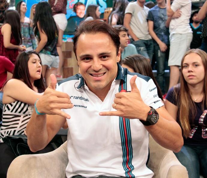 Felipe Massa participa do 'Altas Horas' em 2015 (Foto: Marcos Mazini/Gshow)