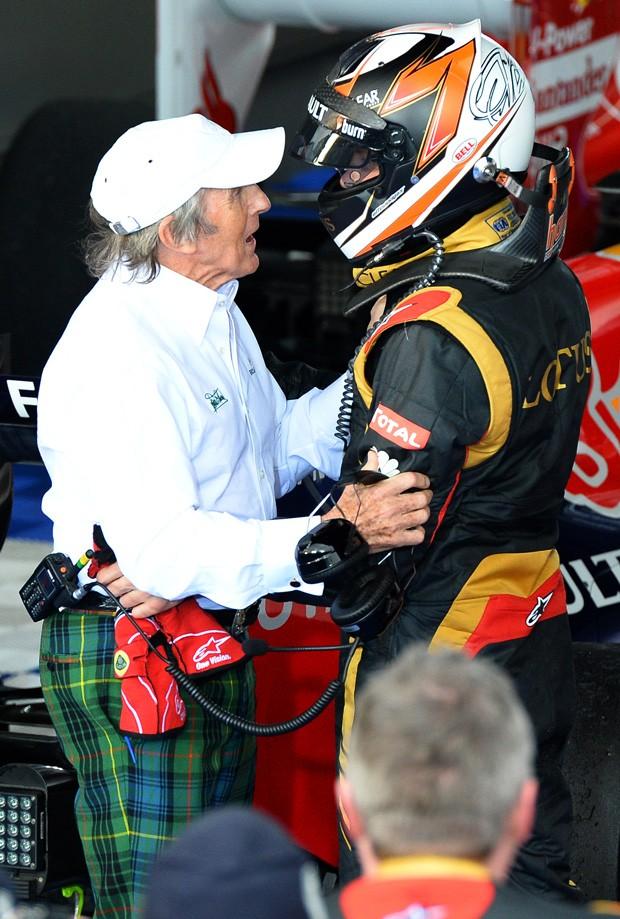 Kimi Raikkonen Jackie Stewart formula 1 (Foto: Agência AFP)