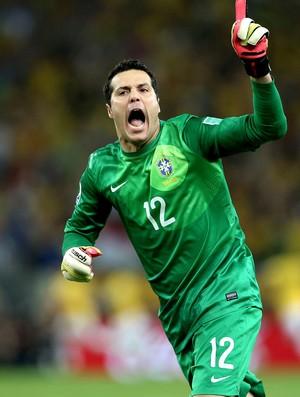 julio cesar brasil gol espanha copa das confederações (Foto: Agência Getty Images)